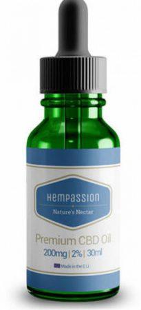 Hempassion Prémium CBD olaj 2% 30 ml-es üvegben - Full Spectrum CBD cseppek